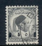 Libya 1955 King Idris Surch FU - Libye