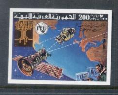 Libya 1977 ITU Spacecraft Over Earth IMPERF MUH - Libya