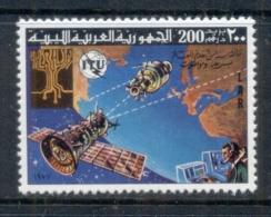 Libya 1977 ITU Spacecraft Over Earth MUH - Libië