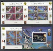 Libya 1977 World Telecommunications Day 4x MS MUH - Libya