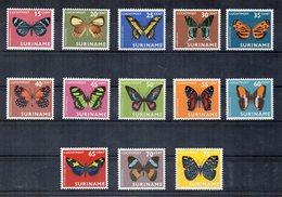 Suriname - 1972 - Lotto 13 Francobolli Posta Aerea Tematica Animali - Farfalle  - Nuovi - (FDC11946) - Suriname