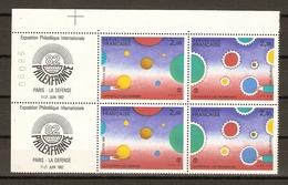 France 1982 - Philexfrance - La Poste Et Les Techniques/Hommes - Folon - 2 X 2200A MNH - Numéro De Série 98090 - France