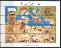 Libya 1985 Funghi, Mushroons Sheetlet MUH - Libya