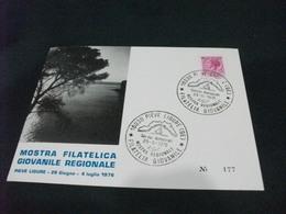 3 CARTOLINE DI PIEVE LIGURE CON VEDUTE DIFFERENTI   1976 MOSTRA FILATELICA GIOVANILE REGIONALE LIGURIA - Betogingen