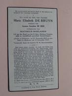 DP Maria Elisabeth DE BRUYN ( Matheus Roelands ) Hoevenen 22 Nov 1869 - Eeckeren 13 Nov 1937 ( Zie Foto's ) ! - Décès