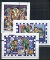 Libya 1998 World Cup Soccer 3x MS MUH - Libya