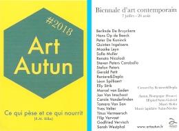 Carte-programme - Art Autun : Biennale D'art Contemporain - 7 Juillet - 26 Août 2018 - Programs