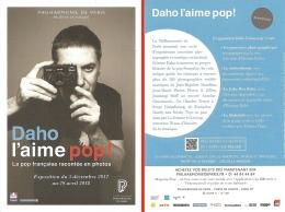 Cate-programme - Exposition Photo - Daho L'aime Pop ! La Pop Française... - Philarmonie De Paris Déc. 2017 -  Avril 2018 - Programmi