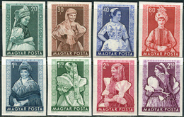 Hungary 1953. Michel #1330/37-B MNH/Luxe. Traditional Costumes. (Ts07) - Ongebruikt