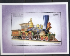 Madagascar 1990 Trains Of The World, Vintage MS MUH - Madagascar (1960-...)
