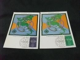 MAXIMUM FRANCIA TEMA EUROPA 1959 CARTINA EUROPA UNITA IN VERDE ITALIA E PAESI ADERENTI - Carte Geografiche