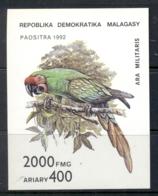 Madagascar 1993 Birds, Parrots MS MUH - Madagascar (1960-...)