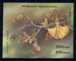 Madagascar 1993 Flowers Orchids MS MUH - Madagascar (1960-...)
