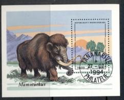 Madagascar 1994 Prehistoric Animals , Mammoth MS CTO - Madagascar (1960-...)