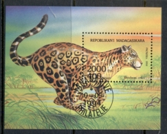 Madagascar 1994 Wild Animals, Panther MS CTO - Madagascar (1960-...)
