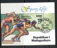 Madagascar 1999 Summer Sports MS CTO - Madagascar (1960-...)