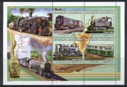 Madagascar 2000 Trains , Mozambique MS MUH - Madagascar (1960-...)