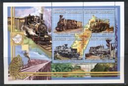 Madagascar 2000 Trains , Zimbabwe MS MUH - Madagascar (1960-...)
