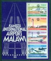 Malawi 1983 Manned Flight Bicentenary, Kamuzu Airport MS MUH - Malawi (1964-...)