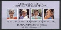 Malawi 1997 Princess Diana In Memoriam MUH - Malawi (1964-...)