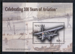 Malawi 2003 Powered Flight Cent. MS MUH - Malawi (1964-...)
