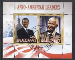 Malawi 2008 Afro-American Leaders, Obama, Mandela MS CTO - Malawi (1964-...)
