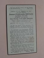 DP Joannes HEYLEN ( Irma Van Den Broeck ) Merksem 15 Sept 1893 - 22 Nov 1948 ( Zie Foto's ) ! - Overlijden