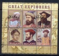 Malawi 2008 Great Explorers MS CTO - Malawi (1964-...)