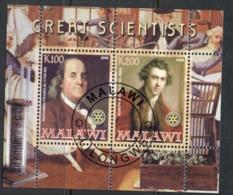 Malawi 2008 Great Scientists MS CTO - Malawi (1964-...)