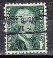 USA Precancel Vorausentwertung Preo, Locals Vermont, West Burke 841 - Vereinigte Staaten