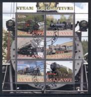 Malawi 2008 Steam Trains, Locomotives MS CTO - Malawi (1964-...)