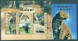 Malawi 2009 Wildlife Pt.I, Elephant, Leopard 2x MS MUH - Malawi (1964-...)