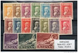 Espagne. Goya - 1931-50 Neufs