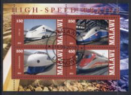 Malawi 2013 High Speed Trains MS CTO - Malawi (1964-...)