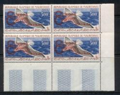 Mauritania 1962 Europa Opt On Bird Blk4 MUH - Mauritania (1960-...)