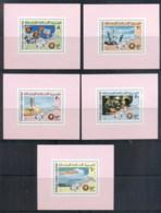 Mauritania 1975 Apollo-Soyuz Joint Russia/USA Space Project Mini Sheetlets MUH - Mauritania (1960-...)