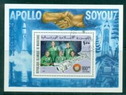 Mauritania 1975 Apollo-Soyuz Space Test MS CTO - Mauritania (1960-...)