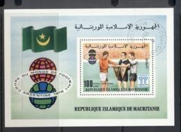 Mauritania 1977 World Cup Soccer MS CTO - Mauritania (1960-...)