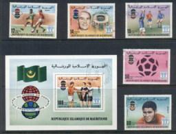 Mauritania 1978 World Cup Soccer Argentina + MS CTO - Mauritania (1960-...)
