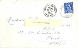 CHARENTE-MARITIME : SURGERES ENTREPOT CHTE MME TàD 16-3-1955 - Marcophilie (Lettres)