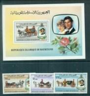 Mauritania 1981 Charles & Diana Royal Wedding + MS MUH Lot81919 - Mauritania (1960-...)