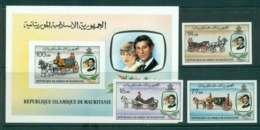 Mauritania 1981 Charles & Diana Wedding + MS IMPERF MUH Lot45091 - Mauritania (1960-...)