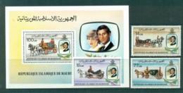 Mauritania 1981 Charles & Diana Wedding + MS MUH Lot30419 - Mauritania (1960-...)