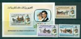 Mauritania 1981 Charles & Diana Wedding + MS MUH Lot45089 - Mauritania (1960-...)