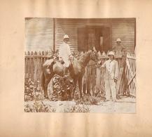 Photographie D'un Officier à Cheval Dans Les Colonies, Sans Doute Un Capitaine De La Légion, Non Située, Photo Vers 1900 - Guerre, Militaire