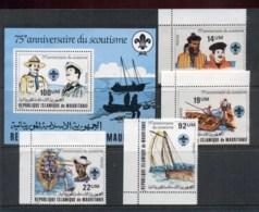 Mauritania 1982 Scouts 75th Anniv + MS MUH - Mauritania (1960-...)