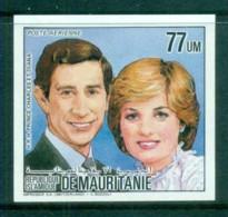 Mauritania 1984 Royal Wedding Charles & Diana IMPERF MUH - Mauritania (1960-...)