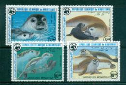 Mauritania 1986 WWF Mediterranean Monk Seal MUH Lot64072 - Mauritania (1960-...)