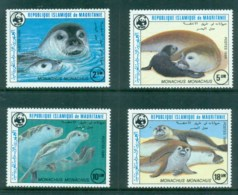 Mauritania 1986 WWF Monk Seal MUH - Mauritania (1960-...)