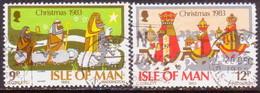 ISLE OF MAN 1983 SG 257-58 Compl.set Used Christmas - Isle Of Man